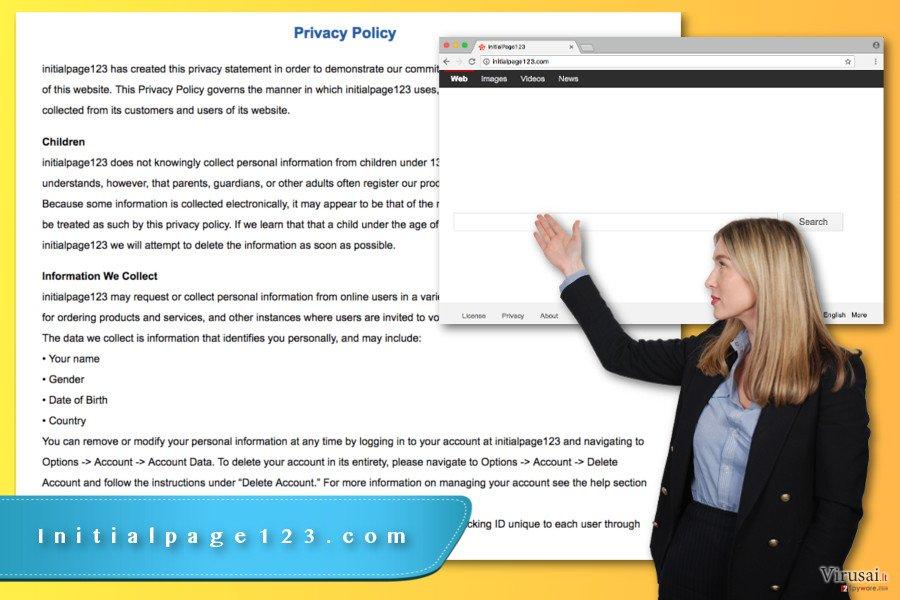 Initialpage123.com virusas