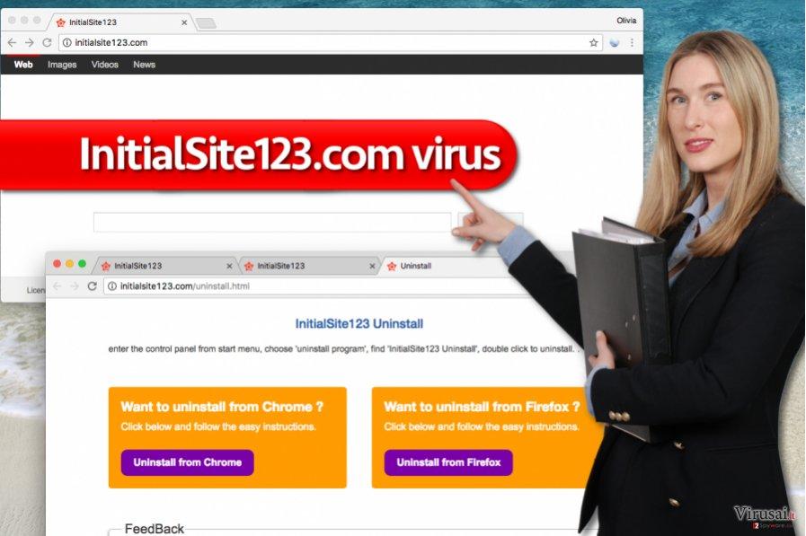 InitialSite123.com virusas