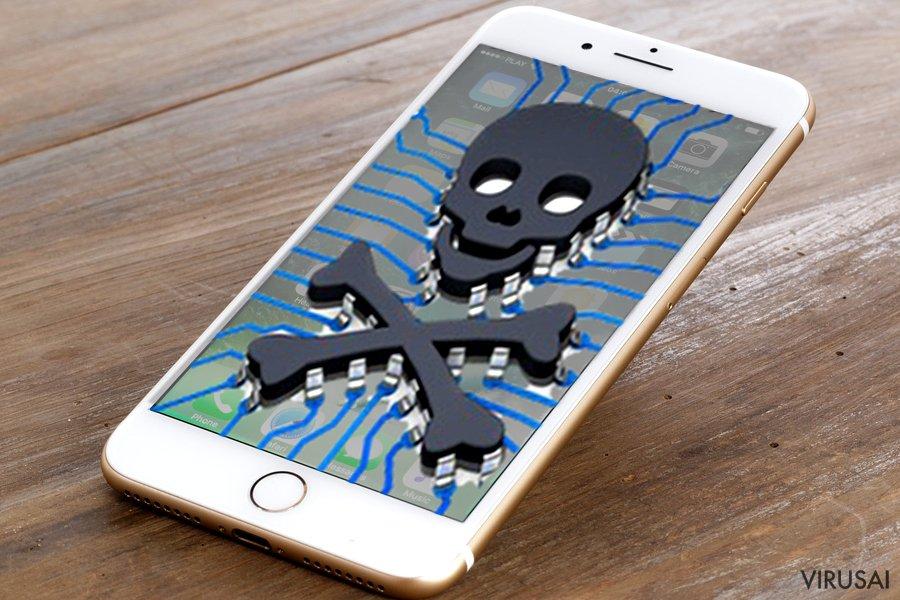 iPhone virusas ekrano nuotrauka