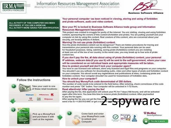 IRMA Virus ekrano nuotrauka