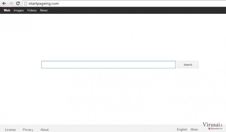 Istartpageing.com ekrano nuotrauka