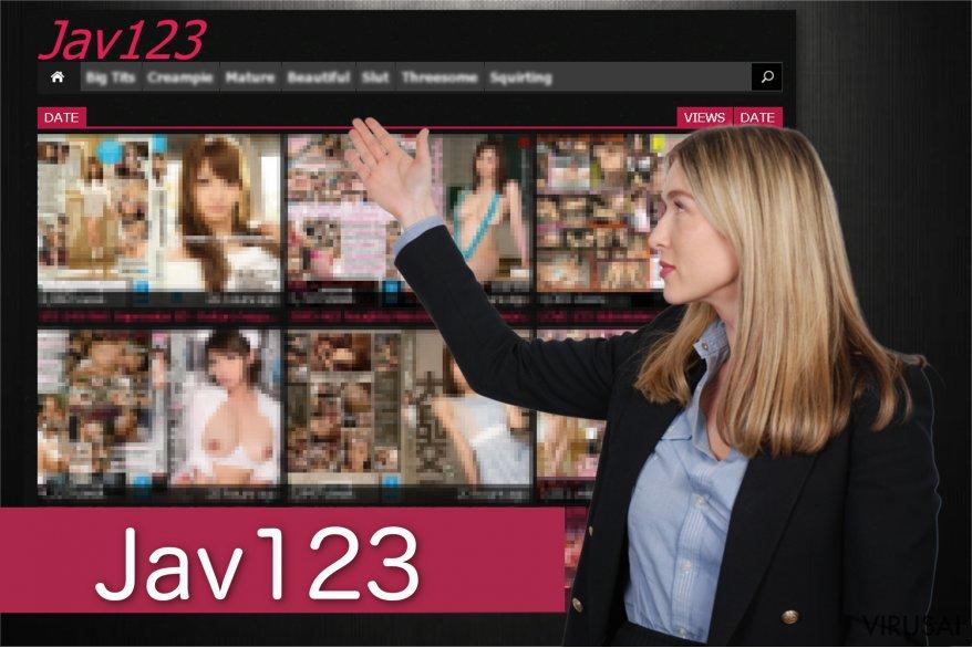 Jav123 viruso peradresavimo pavyzdys