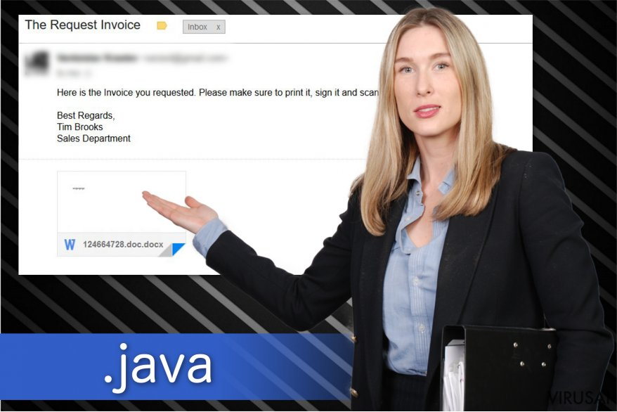 Java viruso iliustracija