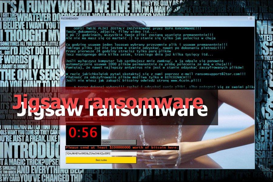 Jigsaw virusas ekrano nuotrauka