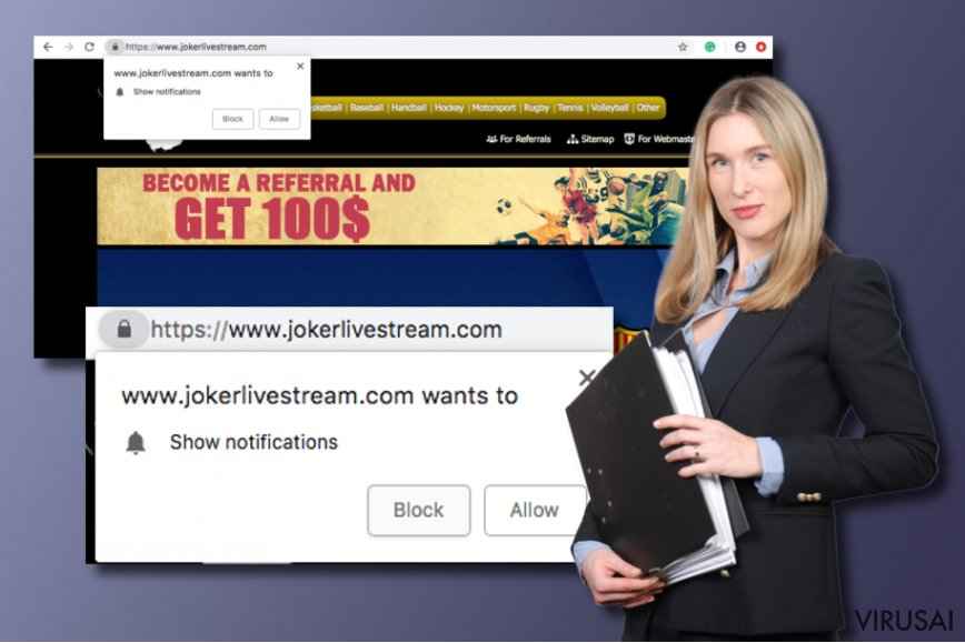 Jokerlivestream.com virusas