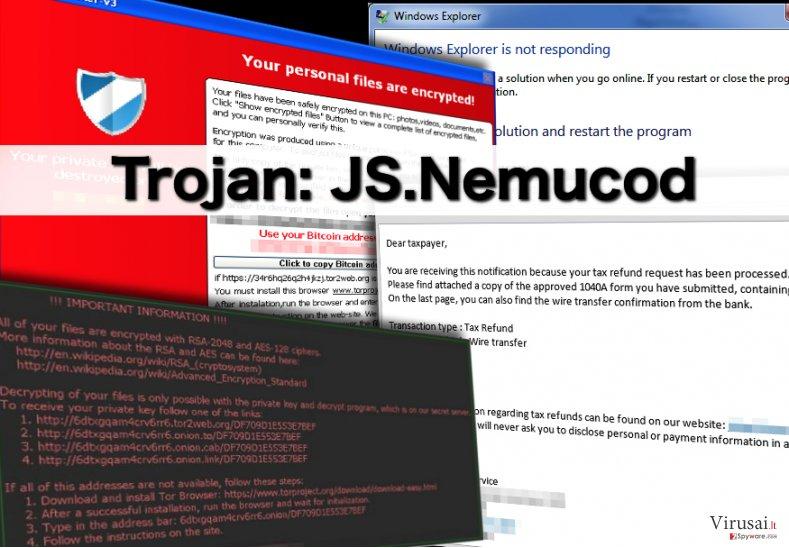 JS.Nemucod ekrano nuotrauka