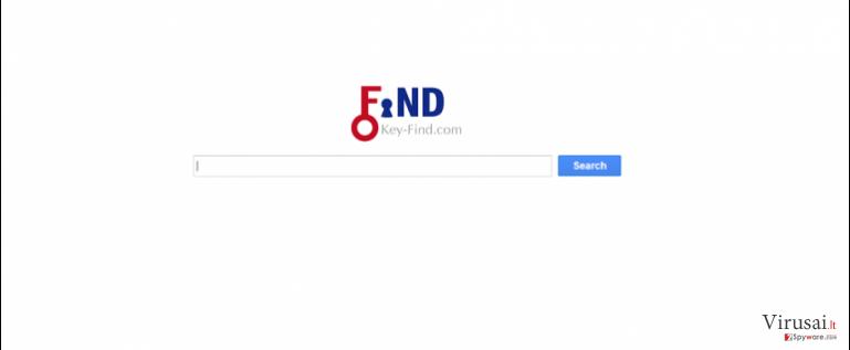 Key-Find.com virusas ekrano nuotrauka