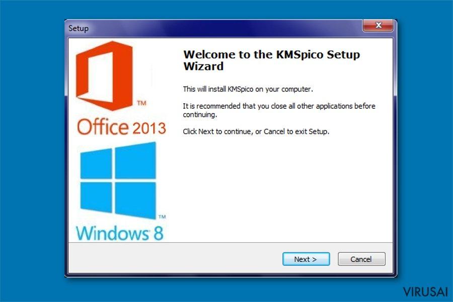 KMSPico virusas ekrano nuotrauka