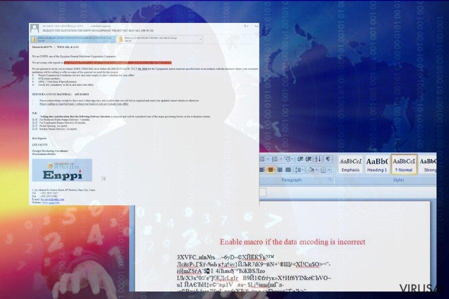 Koti failus koduojantis virusas