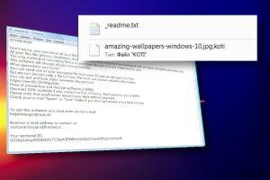 Koti ransomware virusas