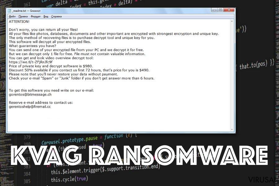 Kvag ransomware