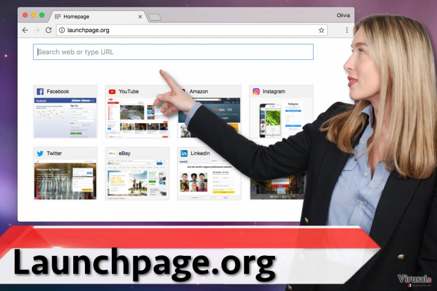 Launchpage.org virusas