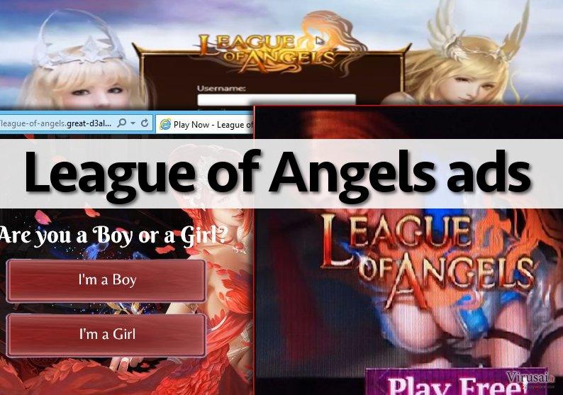 League of Angels reklamų pavyzdys