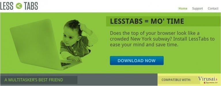Less Tabs ekrano nuotrauka