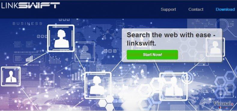 LinkSwift ekrano nuotrauka