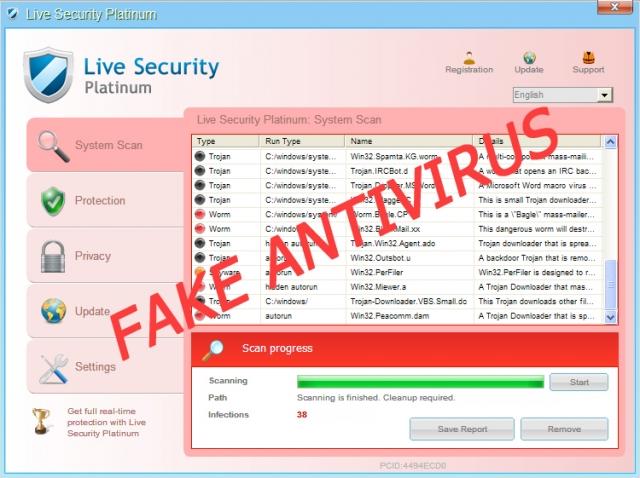 Live Security Platinum ekrano nuotrauka