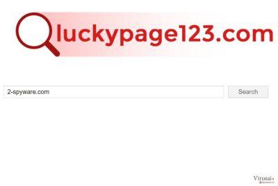 Luckypage123.com virus