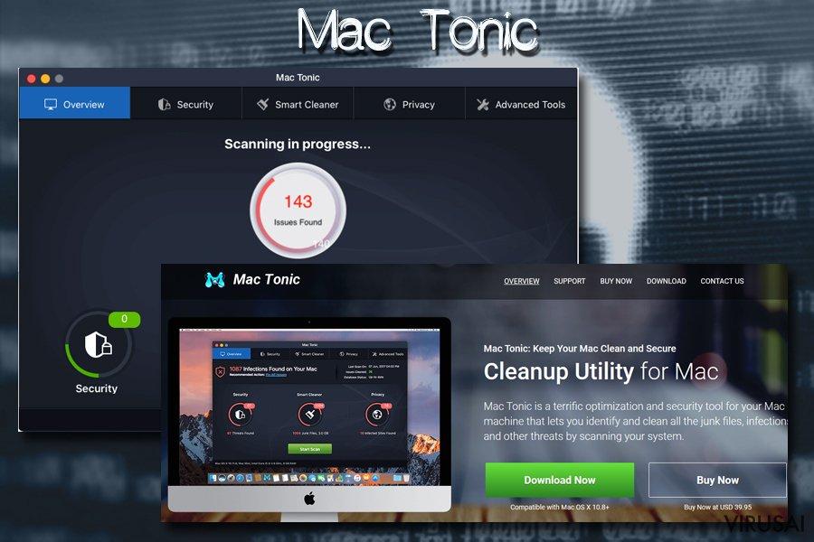 Mac Tonic melaginga kompiuterio optimiziavimo priemonė