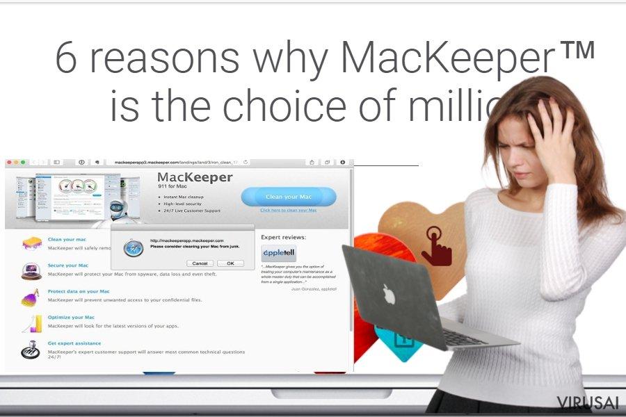 MacKeeper reklamos ekrano nuotrauka