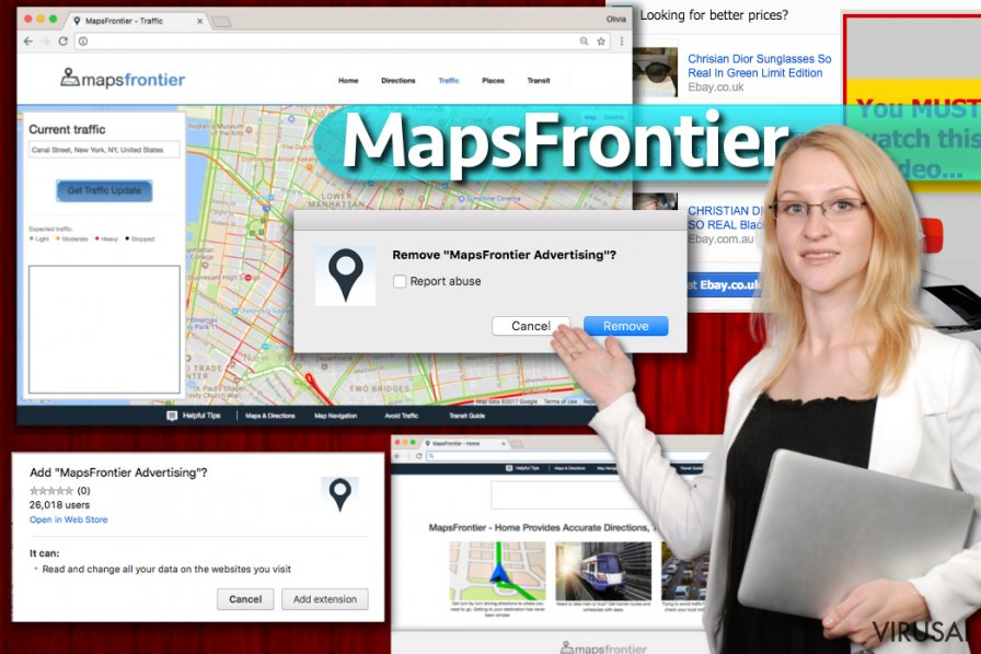 Maps Frontier ekrano nuotrauka