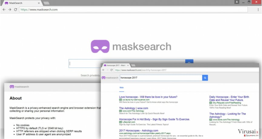MaskSearch.com viruso pavyzdys
