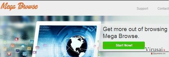 Mega Browse ekrano nuotrauka