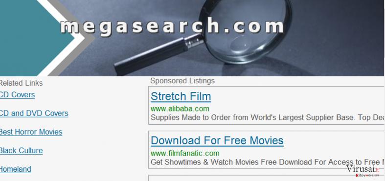 MegaSearch ekrano nuotrauka