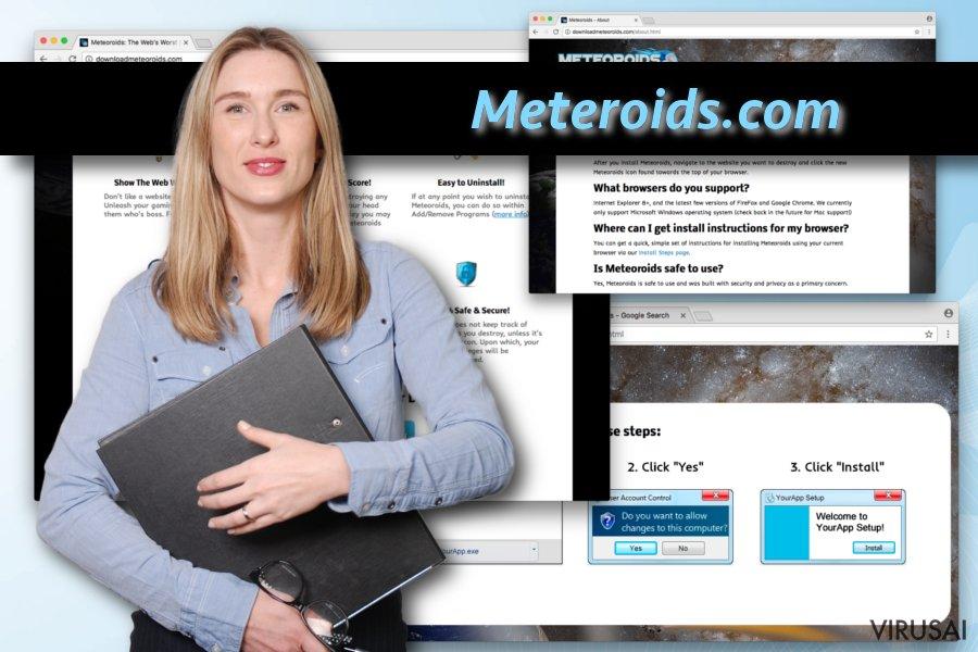 Meteoroids virusas ekrano nuotrauka