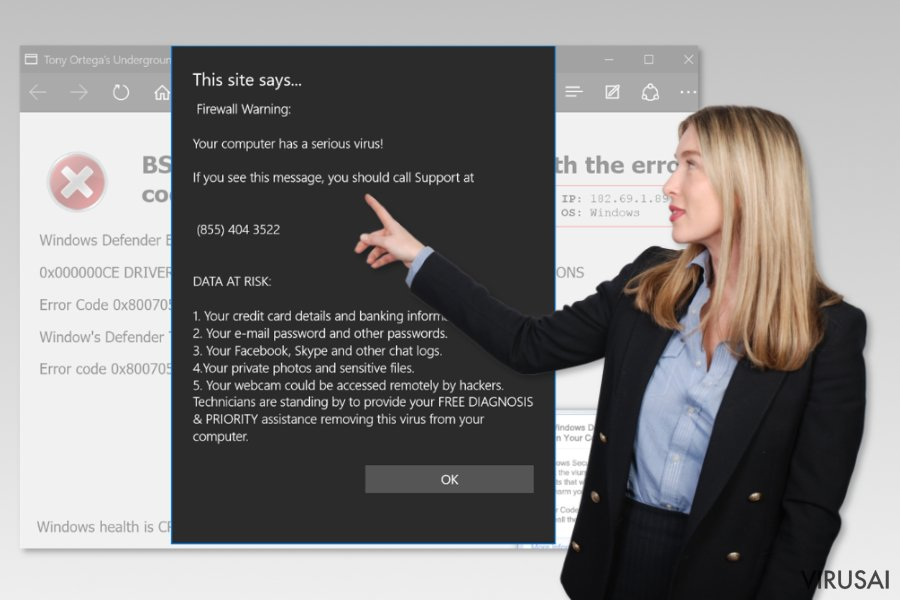 Microsoft Edge support scam virus