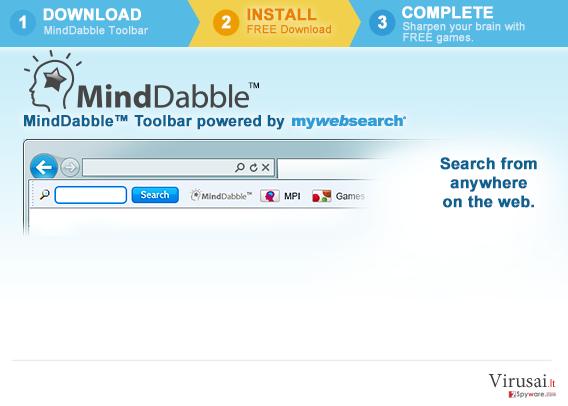 MindDabble ekrano nuotrauka