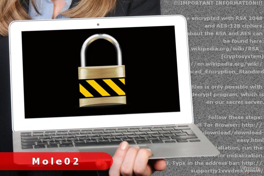 Mole02 virusas ekrano nuotrauka