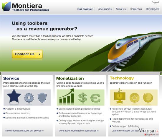 Montiera įrankių juosta ekrano nuotrauka