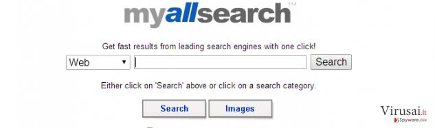 MyAllSearch ekrano nuotrauka