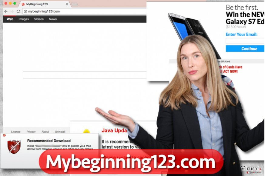 Mybeginning123.com virusas