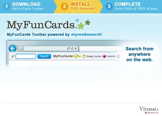 MyFunCards Toolbar ekrano nuotrauka