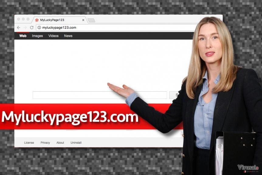 Myluckypage123.com viruso pavyzdys
