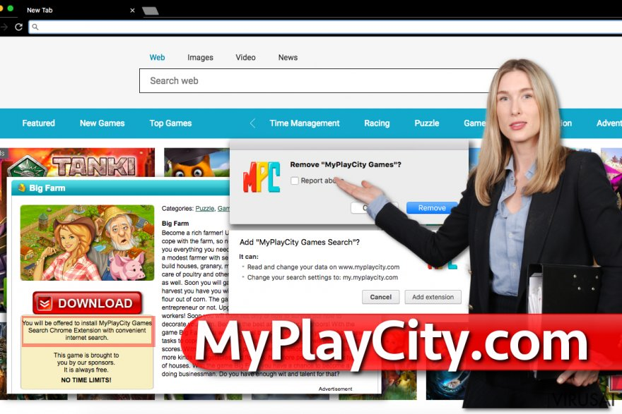 MyPlayCity.com redirect