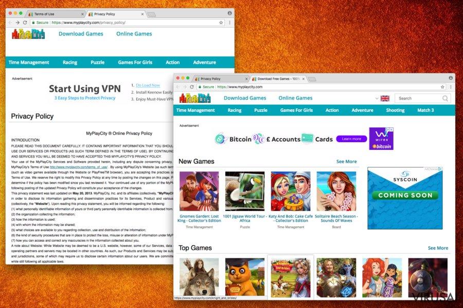 MyPlayCity.com ekrano nuotrauka