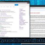 Mysearch virusas ekrano nuotrauka