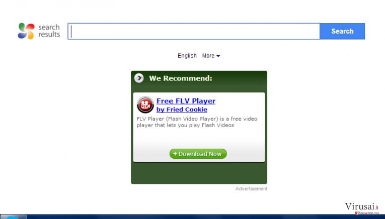 Mysearchresults.com ekrano nuotrauka