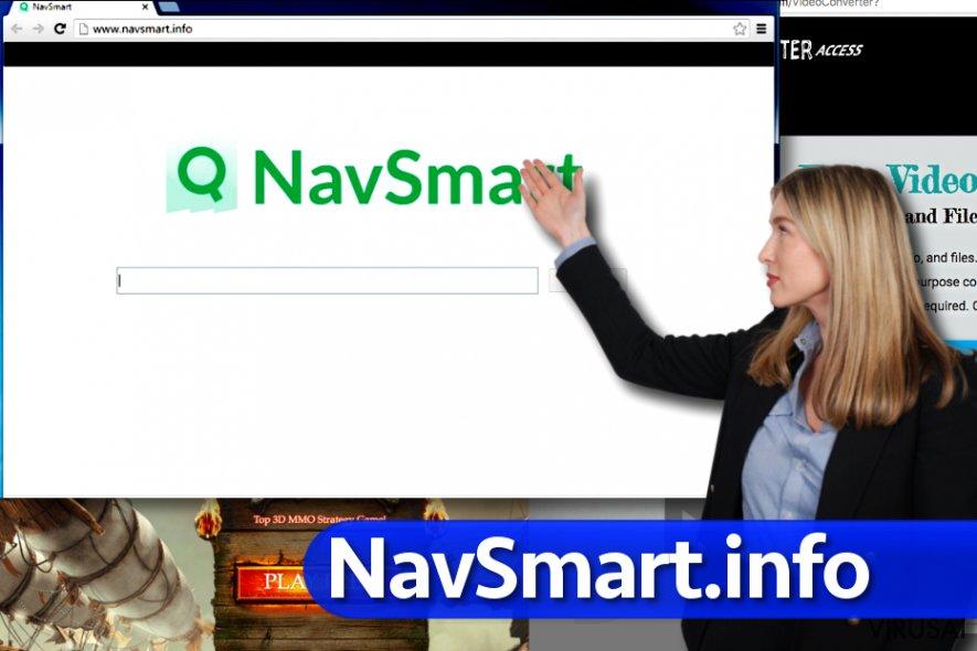 NavSmart.info virusas ekrano nuotrauka