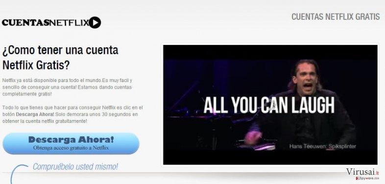 Netflix.com reklamos ekrano nuotrauka