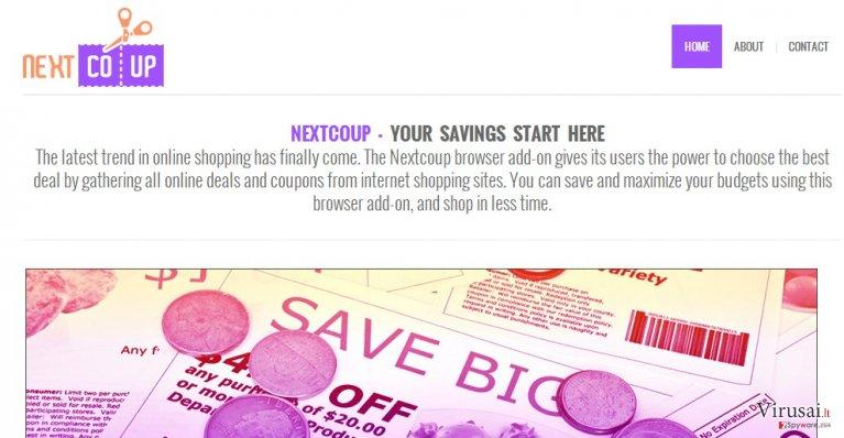 NextCoup reklamos ekrano nuotrauka