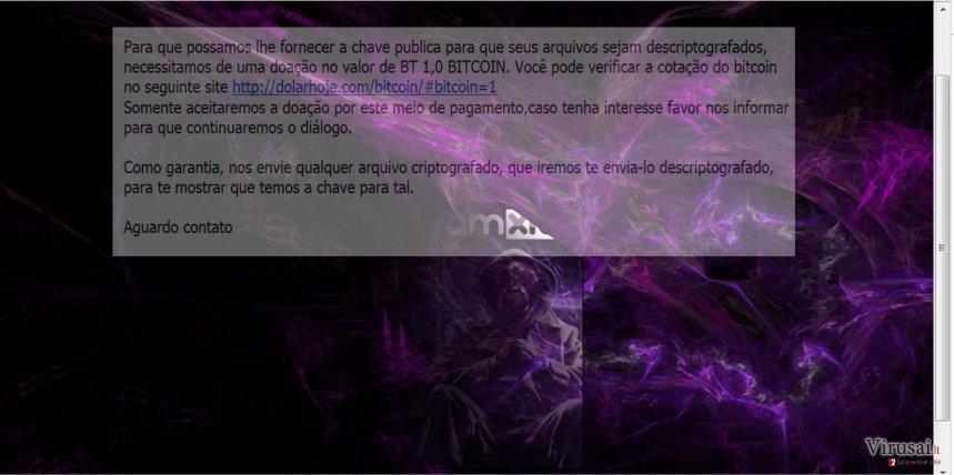 The screenshot of NMoreira virus