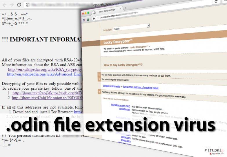 .odin failo plėtinio viruso pavyzdys