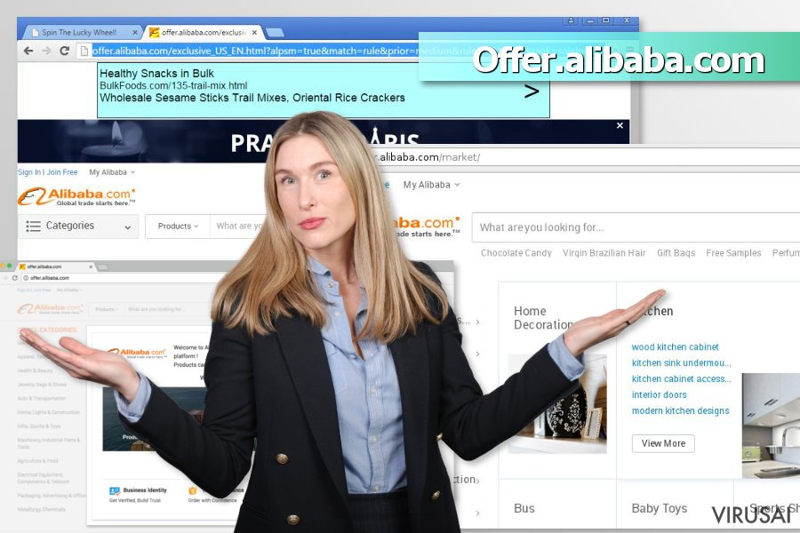 Offer.alibaba.com reklamos ekrano nuotrauka