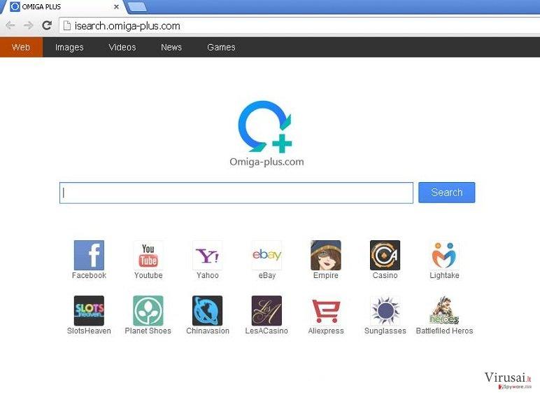 Omiga-plus.com ekrano nuotrauka