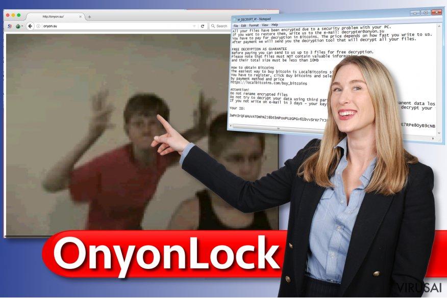 OnyonLock viruso svetainė
