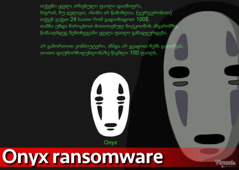 Onyx viruso ataka