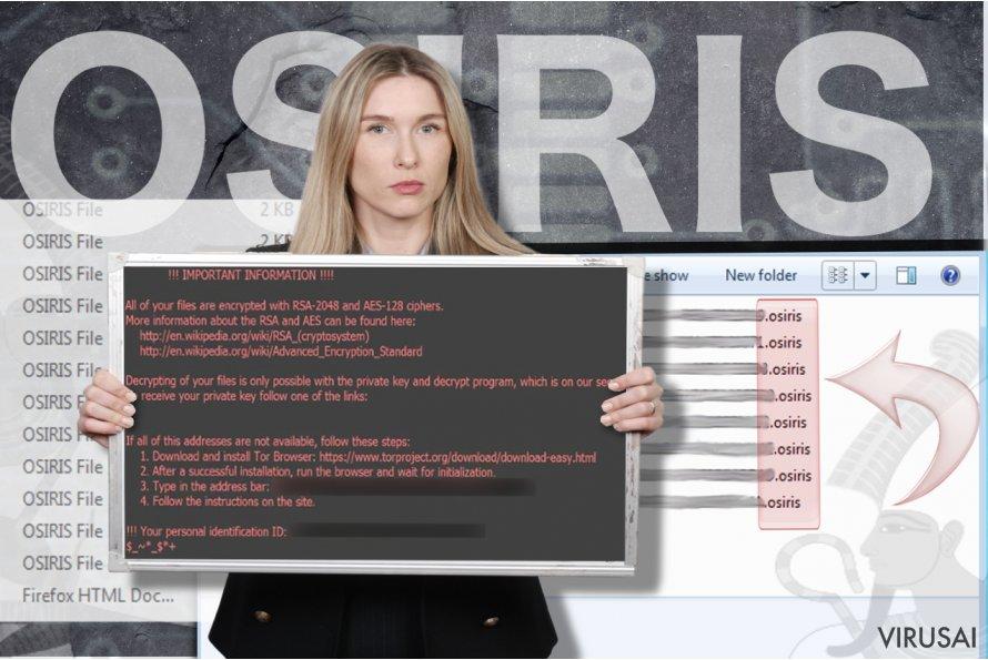 Osiris virusas ekrano nuotrauka